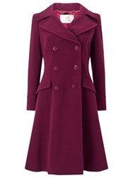 Jacques Vert Fit And Flare Coat Dark Red