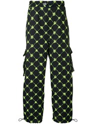 Sunnei Diamond Check Trousers Blue