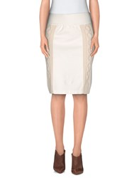 European Culture Skirts Knee Length Skirts Women Ivory