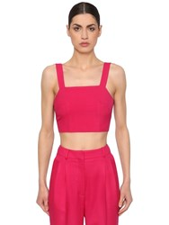 Racil Cool Wool Crop Top Fuchsia