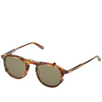 Garrett Leight Hampton Clip Sunglasses Brown