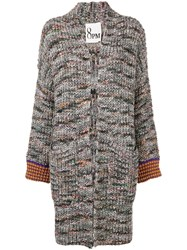 8Pm Knitted Coat Black