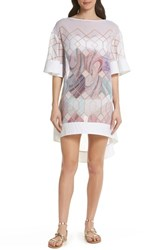 Ted Baker London Sea Of Clouds Cover Up Tunic White