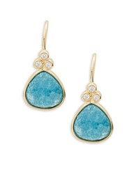 Tai Faceted Stone Drop Earrings Blue