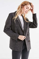 Urban Outfitters Uo Double Breasted Wool Blazer Grey