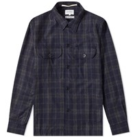 Norse Projects Kyle Wool Shirt Blue