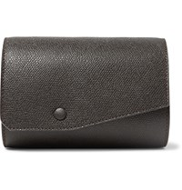 Valextra Pebble Grain Leather Watch Roll Brown