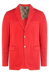 Etro Cotton Suiting Blazer Red
