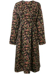 08Sircus Floral Jacquard Midi Dress Multicolour