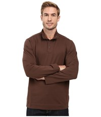 Tommy Bahama Weekend Harbor Snap Mock Shirt Espresso Men's Clothing Brown
