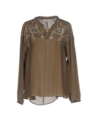 Fairly Shirts Blouses Military Green