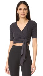 Free People Movement Sacred Wrap Top Black