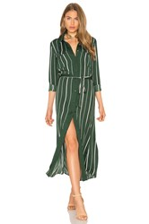 L'academie The Long Sleeve Shirt Dress Green