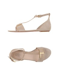 Santoni Footwear Thong Sandals Women Khaki