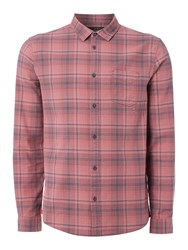 Label Lab Men's Laurence Large Plaid Check Dark Pink