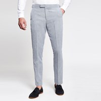 River Island Light Blue Skinny Suit Trousers