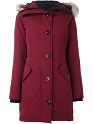 Canada Goose Hooded Mid Coat Pink And Purple