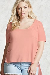 Forever 21 Plus Size Longline Pocket Tee