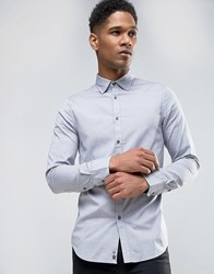 Sisley Shirt In Slim Fit Blue