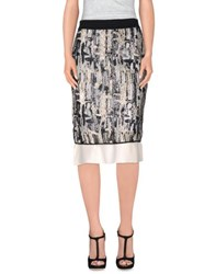 Space Style Concept Skirts Knee Length Skirts Women Ivory