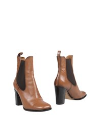 Eva Turner Ankle Boots Brown