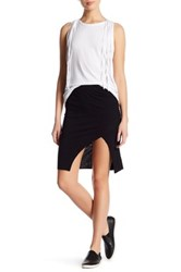 Pam And Gela Side Slit Pencil Skirt Black
