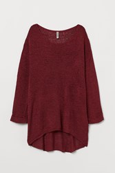 Handm H M Loose Knit Sweater Red