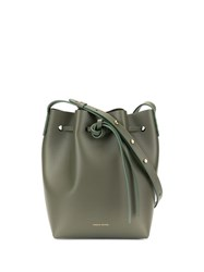 Mansur Gavriel Drawstring Bucket Bag Green
