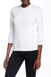 Marc By Marc Jacobs Moving Ribs Long Sleeve Sweater White