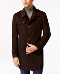 Kenneth Cole Reaction Elmore Slim Fit Tic Overcoat Brown