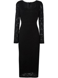 Twin Set Lace Dress Black