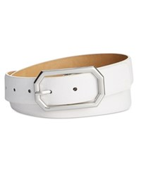 Styleandco. Style And Co. Octagonal Buckle Pant Belt Only At Macy's White