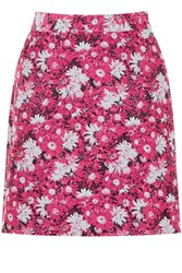Warehouse Aster Jacquard Floral Skirt Pink