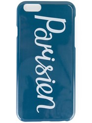 Maison Kitsune 'Parisien' Iphone 6 Case Blue