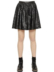 Blugirl Faux Leather Lace Skirt