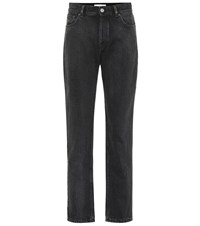 Balenciaga High Rise Straight Jeans Black