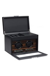 Men's Wolf 'Roadster' Double Watch Winder And Case Black