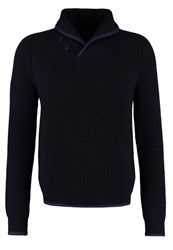 Schott Nyc Marlin Jumper Navy Dark Blue
