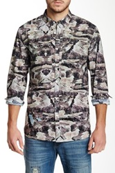 Marc Ecko Topographic Camo Shirt Multi