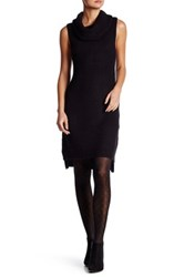 Bb Dakota Brandy Cowl Neck Sleeveless Sweater Dress Black