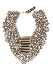 Afroditi Hera Layered Necklace Metallic