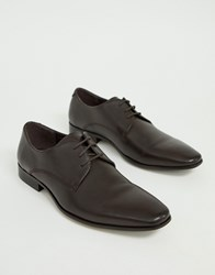 Office Glide Derby Shoes In Brown Leather