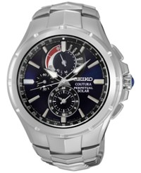 Seiko Men's Chronograph Coutura Stainless Steel Bracelet Watch 44Mm Ssc375 Silver