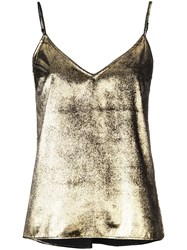 Frame Metallic Camisole Top Gold
