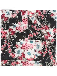 Rag And Bone Kimono Floral Scarf Women Silk Cotton One Size Black