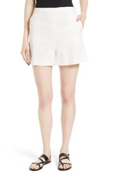 Theory Women's Tarrytown Stretch Linen Blend Shorts Shell White