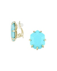 Kendra Scott Morgan Magnesite Clip On Earrings Turquoise