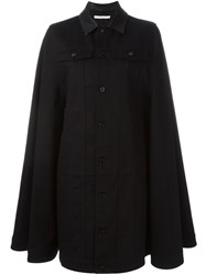 Givenchy Long Denim Cape Black