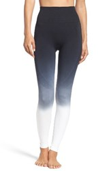 Climawear Women's Set The Pace High Waist Leggings Black Dip Dye White