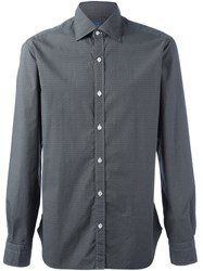 Barba Diamond Print Shirt Black